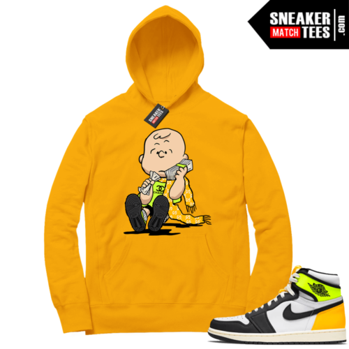 Volt Gold Hoodies to match Jordan 1 Gold Designer Charlie