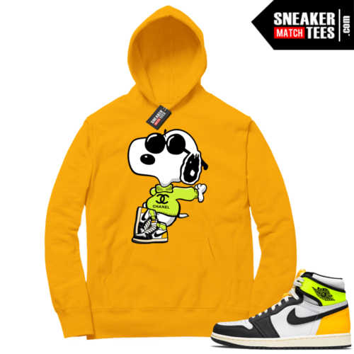Volt Gold Hoodies to match Jordan 1 Gold Fly Snoopy