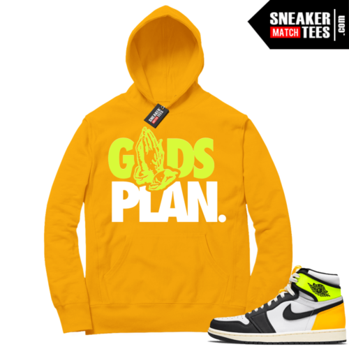Volt Gold Hoodies to match Jordan 1 Gold Gods Plan