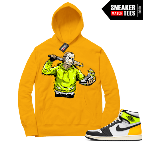 Volt Gold Hoodies to match Jordan 1 Gold Jason Copy