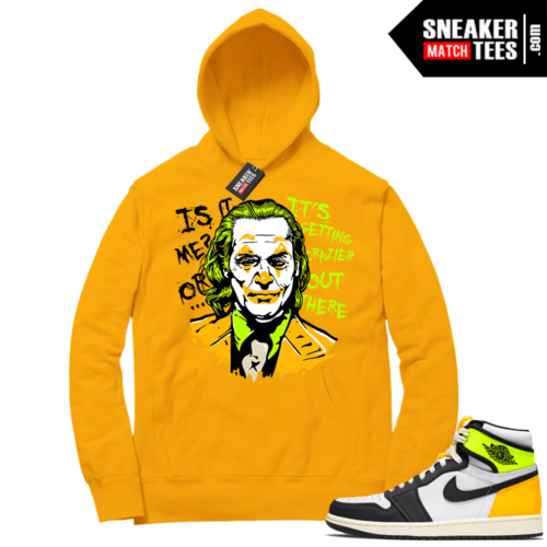 Volt Gold Hoodies to match Jordan 1 Gold Joker