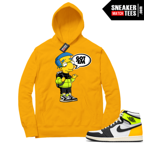 Volt Gold Hoodies to match Jordan 1 Gold Millhouse Got EM
