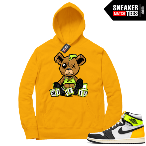 Volt Gold Hoodies to match Jordan 1 Gold Misfit Teddy