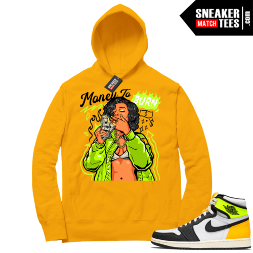 Volt Gold Hoodies to match Jordan 1 Gold Money to Burn'