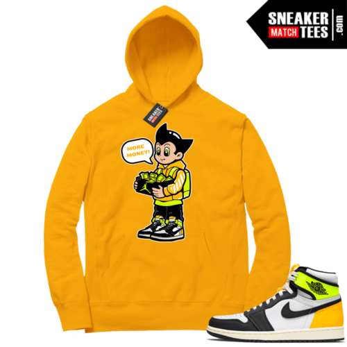 Volt Gold Hoodies to match Jordan 1 Gold More Shoe Money