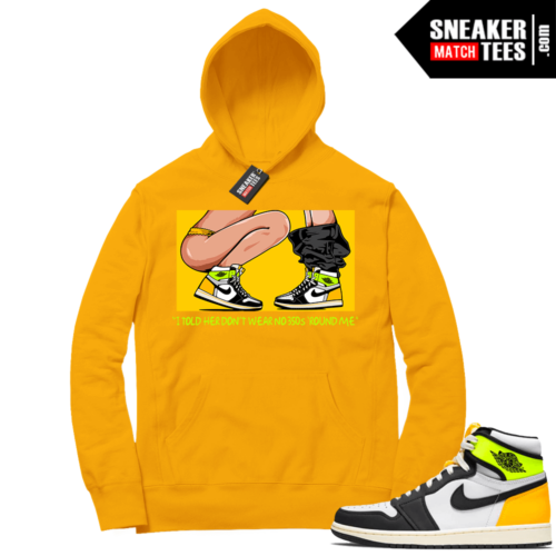 Volt Gold Hoodies to match Jordan 1 Gold No 350s