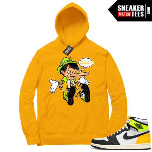 Volt Gold Hoodies to match Jordan 1 Gold No More Sneakers