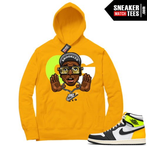 Volt Gold Hoodies to match Jordan 1 Gold OG MARS