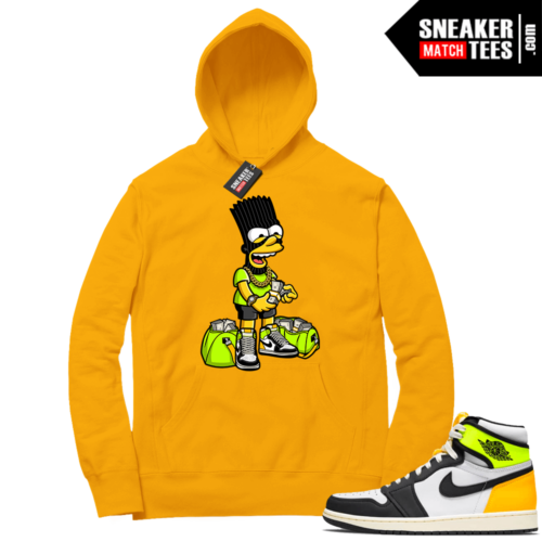 Volt Gold Hoodies to match Jordan 1 Gold Paid