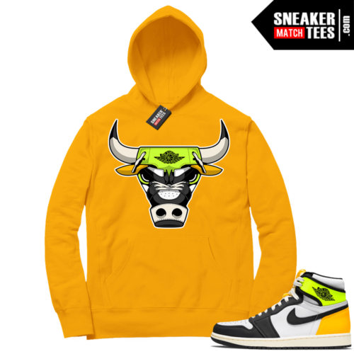 Volt Gold Hoodies to match Jordan 1 Gold Rare Air bull