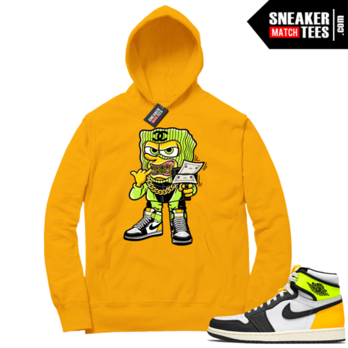 Volt Gold Hoodies to match Jordan 1 Gold Savage