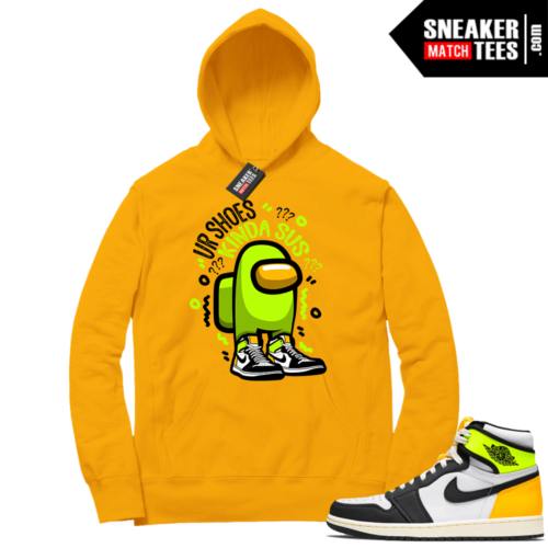 Volt Gold Hoodies to match Jordan 1 Gold Shoes SUS