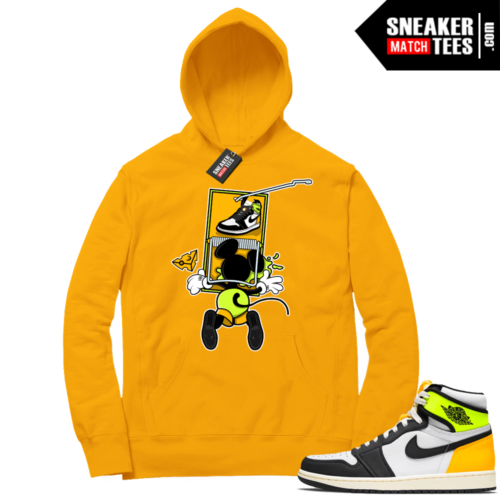 Volt Gold Hoodies to match Jordan 1 Gold Sneaker Trap
