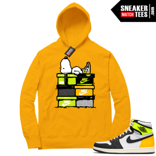 Volt Gold Hoodies to match Jordan 1 Gold Snoopy Sneakerhead