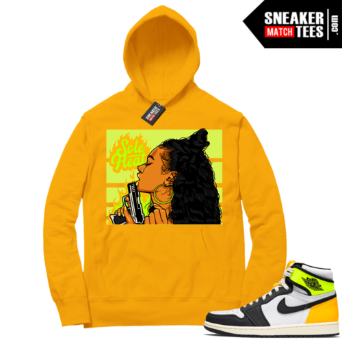 Volt Gold Hoodies to match Jordan 1 Gold Sole Heat