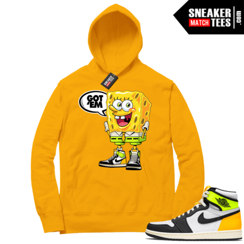 Volt Gold Hoodies to match Jordan 1 Gold SpongeBob Got EM