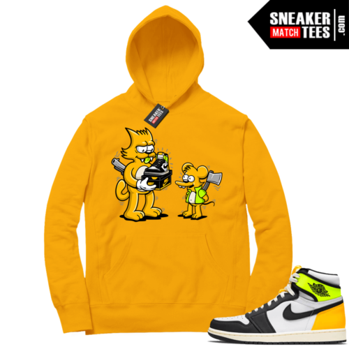 Volt Gold Hoodies to match Jordan 1 Gold The Flip