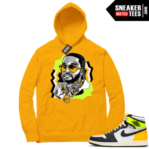 Volt Gold Hoodies to match Jordan 1 Gold The WOO