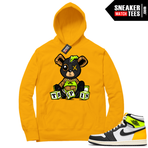 Volt Gold Hoodies to match Jordan 1 Gold Trappin Misfit Teddy
