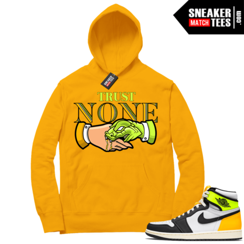 Volt Gold Hoodies to match Jordan 1 Gold Trust NONE